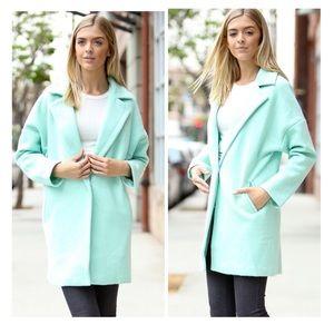 2 left *** Light Green Wool Coat